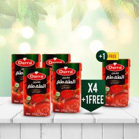 معجون الطماطم تترا باك 135غ عرض 4+1مجاناً